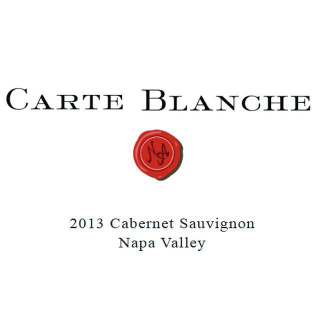2013 CARTE BLANCHE NAPA VALLEY CABERNET SAUVIGNON