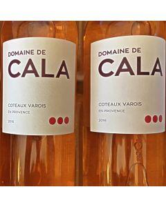 """2016 DOMAINE DE CALA """"PRESTIGE"""" COTEAUX VAROIS EN PROVENCE ROSE"""