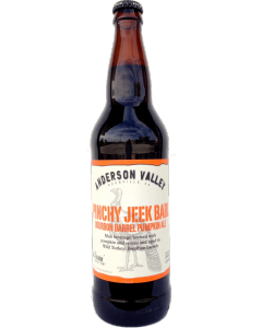 "ANDERSON VALLEY BREWERY ""PINCHY JEEK"" BOURBON BARREL PUMPKIN ALE, 1PT. 6oz. BOONVILLE, CALIFORNIA"