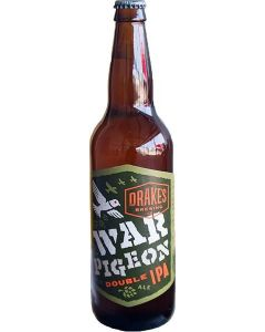 "DRAKES BREWERY ""WAR PIGEON"" DOUBLE IPA 22oz. SAN LEANDRO, CALIFORNIA"
