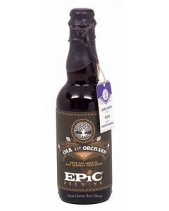 "EPIC BREWING COMPANY ""OAK & ORCHARD"" DARK SOUR with PLUM AGED IN BOURBON BARRELS, 12.7oz  DENVER, CO"