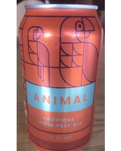 """FORT POINT BREWERY """"ANIMAL"""" TROPICAL IPA, 12oz(can) SAN FRANCISCO, CALIFORNIA"""