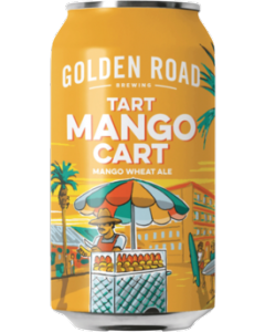 "GOLDEN ROAD BREWERY ""MANGO CART"" MANGO WHEAT ALE, 12OZ (CAN) LOS ANGELES, CALIFORNIA"