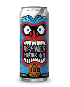 "HOPWORKS URBAN BREWERY ""ABOMINABLE WINTER ALE"" WINTER IPA,16oz. (can) PORTLAND, OREGON"