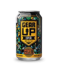 "HOPWORKS URBAN BREWEY ""GEAR UP"" IPA, 12oz. (can) PORTLAND, OREGON"