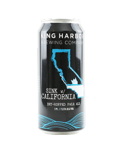 "KING HARBOR BREWING ""SINK w/ CALIFORNIA"" DRY-HOPPED PALE ALE, 16oz(CAN) REDONDO BEACH, CALIFORNIA"