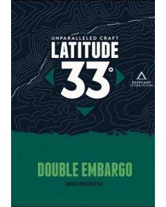 """LATITUDE 33 BREWERY """"DOUBLE EMBARGO"""" DIPA, 16oz(CAN) VISTA, CALIFORNIA"""
