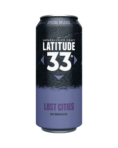 "LATITUDE 33 BREWERY ""LOST CITIES"" HAZY IPA, 16oz(CAN) VISTA, CALIFORNIA"