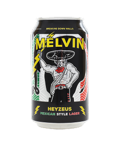 """MELVIN BREWING COMPANY """"HEYZEUS"""" MEXICAN STYLE LAGER, 12OZ(CAN) JACKSON, WYOMING"""