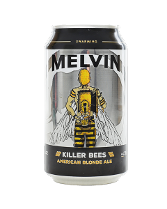 "MELVIN BREWING COMPANY ""KILLER BEES"" AMERICAN BLONDE ALE, 12OZ(CAN) JACKSON, WYOMING"