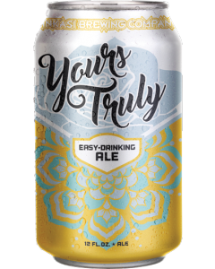 "NINKASI BREWING COMPANY ""YOURS TRULY"" AMERICAN BLONDE ALE, 12OZ. (CAN)  EUGENE, OREGON"