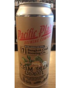 "PACIFIC PLATE BREWERY ""TOM YUM BEER"" WHEAT BEER w/ LEMONGRASS, KAFFIR LIME LEAF & GALANGAL, 16oz(CAN"