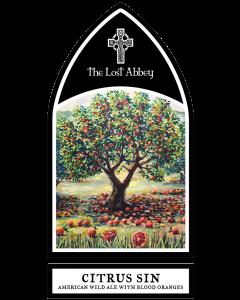 "THE LOST ABBEY ""CITRU SIN"" AMERICAN WILD ALE w/BLOOD ORANGES, 750ML,  SAN MARCOS, CALIFORNIA"