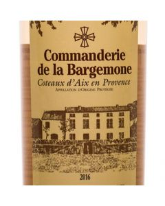 2017 COMMANDERIE DE LA BARGEMONE COTEAUX D'AIX EN PROVENCE ROSE
