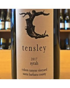 "2017 TENSLEY ""COLSON CANYON VINEYARD"" SANTA BARBARA COUNTY SYRAH"